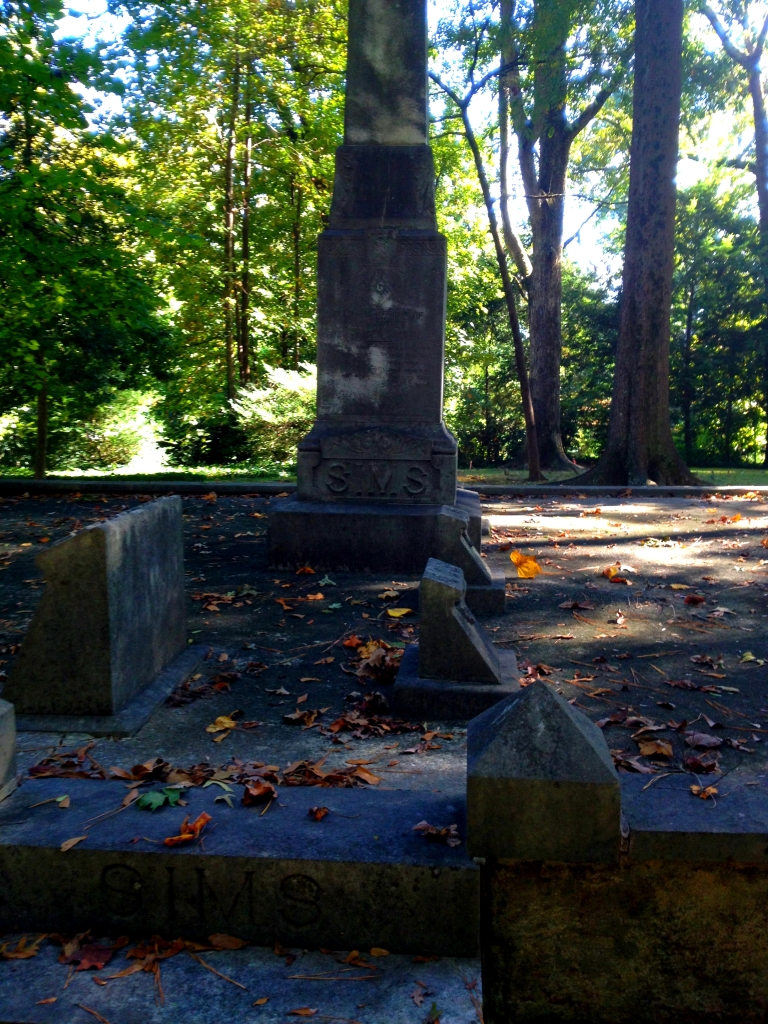 The Sims Family Plot with the Obelisk and Steps - History Atlanta 2014