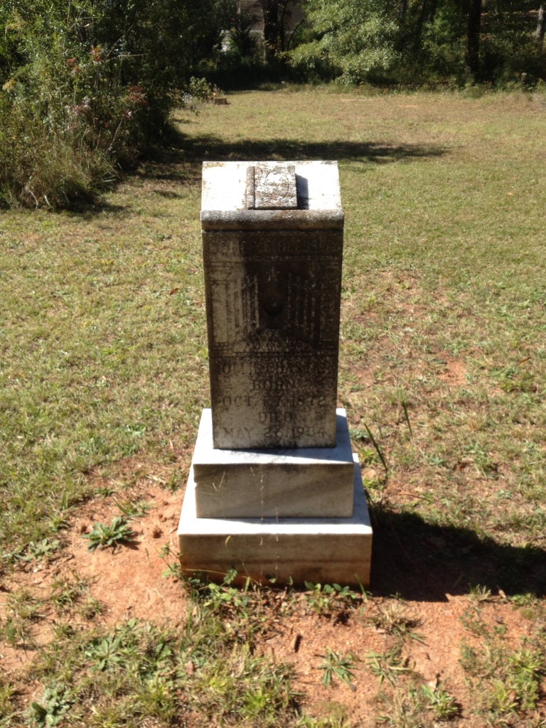 The headstone for Hollie Chastain in Scottdale Mills Cemetery - History Atlanta 2014