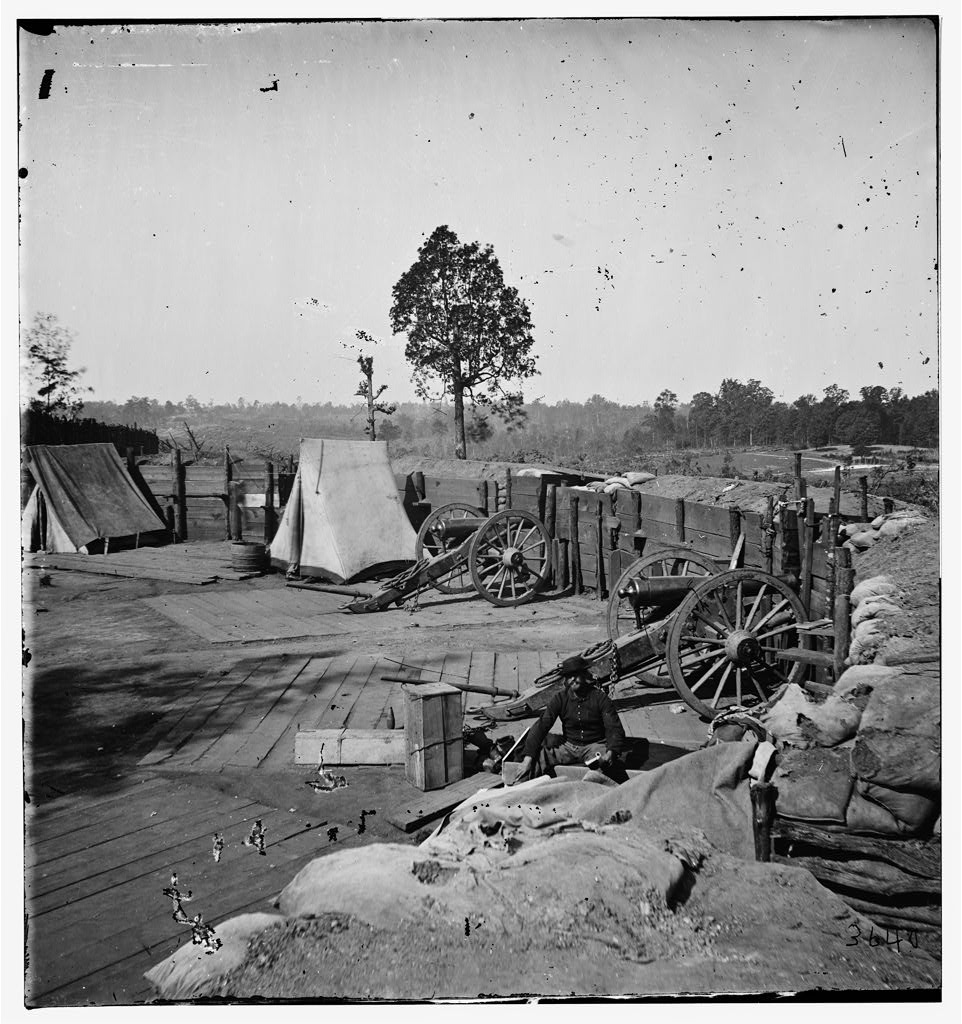 An Unidentified Confederate Fort in Front of Atlanta in 1864 - U.S. Library of Congress