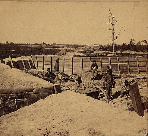 Federal Fort No. 12 - A New fort built looking northwest in Atlanta in November of 1864 - U.S. Library of Congress