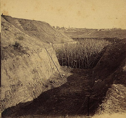 Federal Fort No. 7 - Here we see new trenches around Atlanta built during the occupation of the city in November of 1864 - U.S. Library of Congress