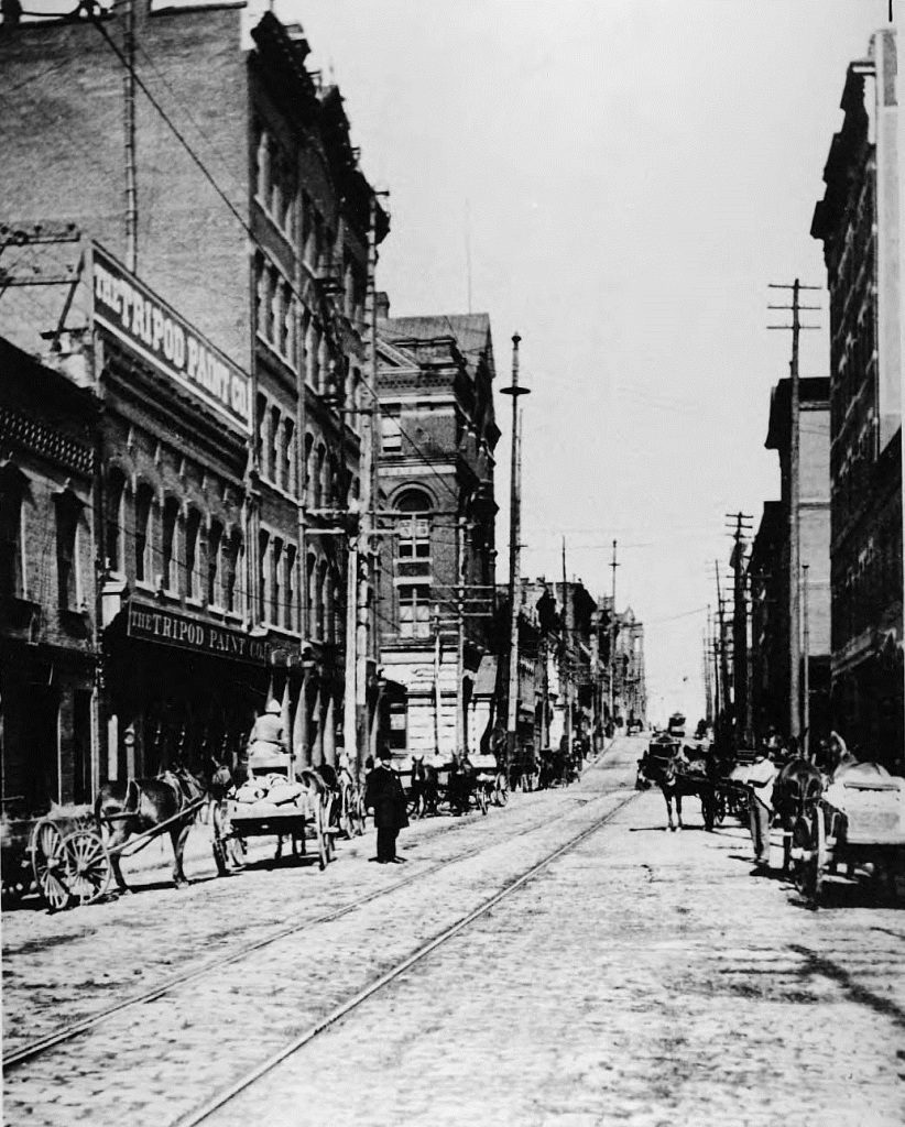 Atlanta Unknown Street in the 1880's or 1890's - Georgia State University Library