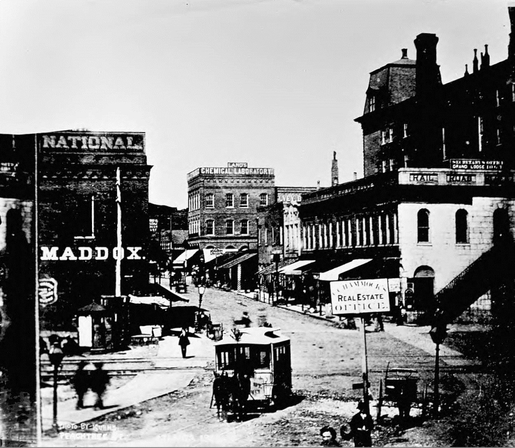 Downtown Atlanta in the 1880's or 1890's - Georgia State University Library
