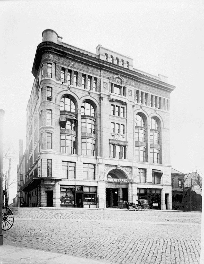 DeGive's Grand Opera House in the 1890's - It was built in 1893 and purchased by Loews in 1927 becoming Loew's Grand Theater - It was famously the site of the 1939 premiere of Gone with the Wind - Behind the opera House in 1895 Baker Bass was murdered - Georgia State University Library