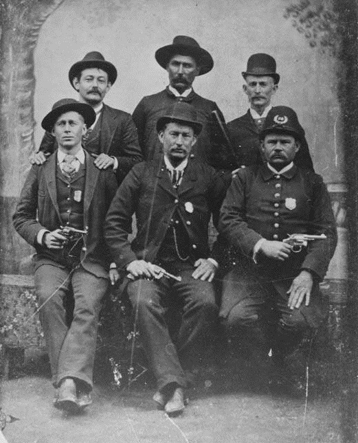 Members of the Augusta Police Department Circa 1895-1900 - Front Center George Heckle - Others Are Unknown - Vanishing Georgia, Georgia Archives, University System of Georgia