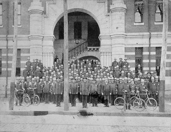 Atlanta Police Department Group Photograph Circa 1898- Vanishing Georgia, Georgia Archives