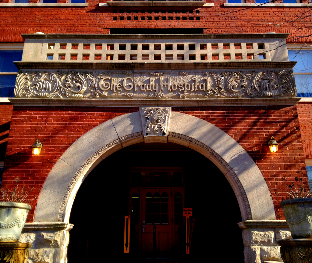 The Front Entrance to the Old Grady Hospital - History Atlanta 2015