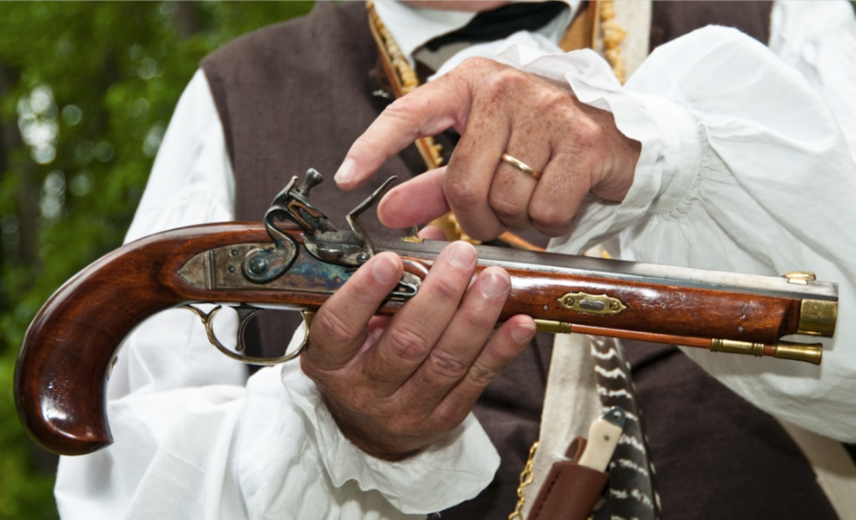 Learn About Frontier Life & The Cool Weapons at The Fort Daniel 6th Annual Frontier Faire - Photograph by Robert Coffey