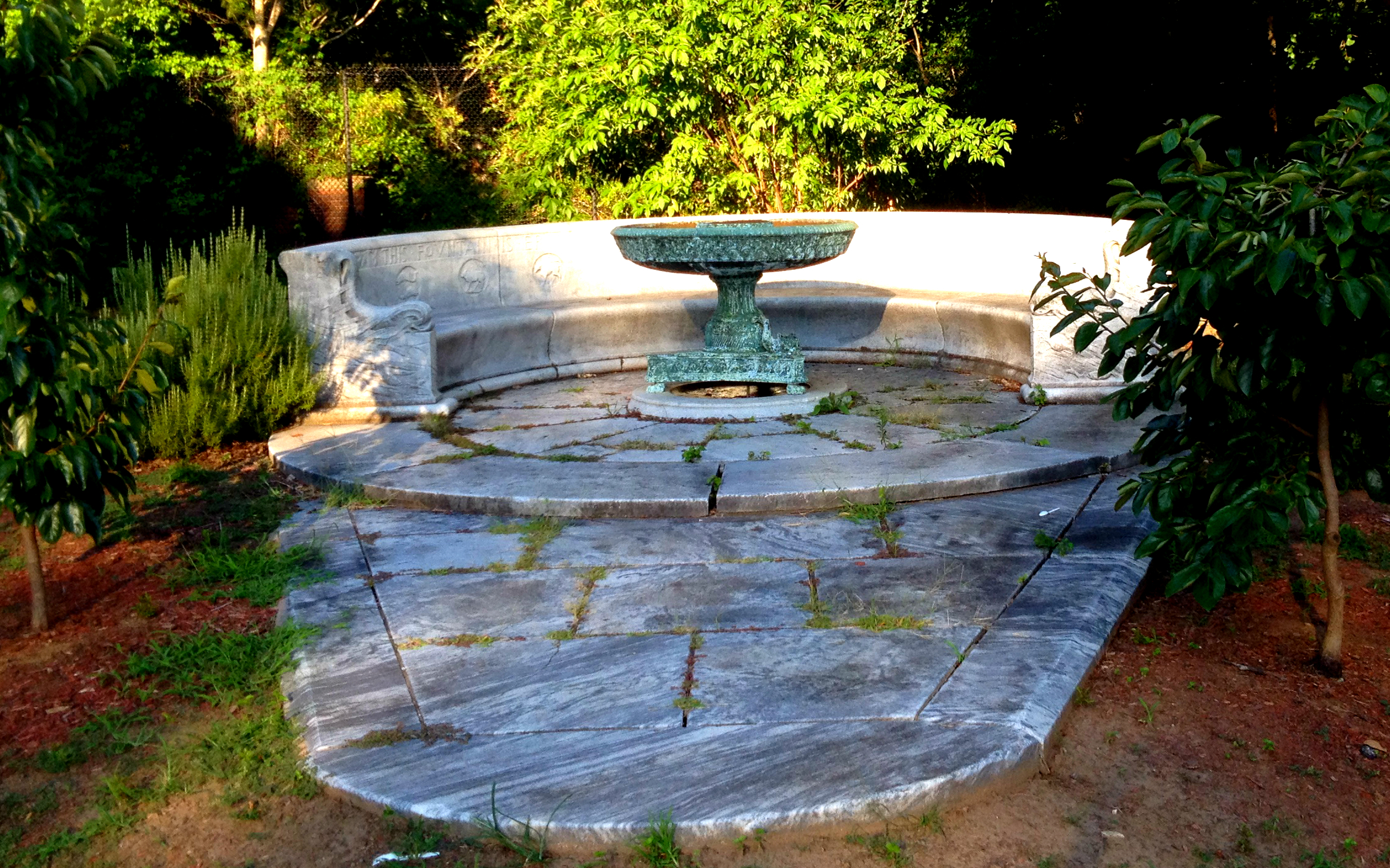 The Erskine Memorial Fountain in Grant Park - History Atlanta 2014