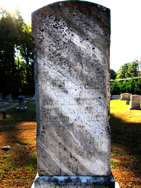 Patience Elizabeth Todd married John M. Armistead and died in 1900 at the age of 72 - Ray Keen 2014